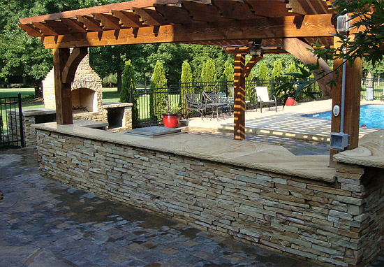 Swimming pool designs baton rouge la landscape stone for Pool design knoxville tn
